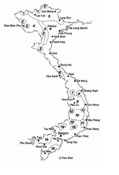 Karte: Minderheiten in Vietnam