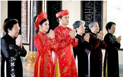 Foto: eine Hochzeit der Kinh