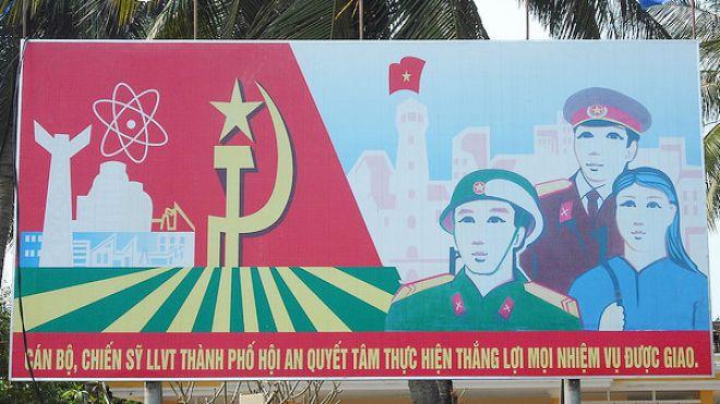 Die Zukunft ist atomar: Eine Tafel in Vietnam. (flickr/ rightee)